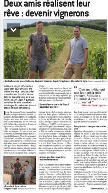 dupre-goujon-beaujolais-brouilly-montcalmes-article-progres