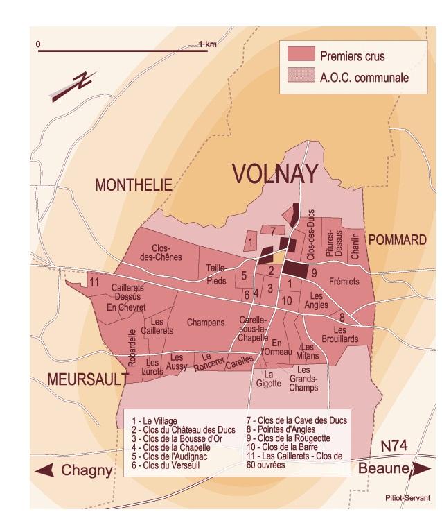 Carte climat Volnay