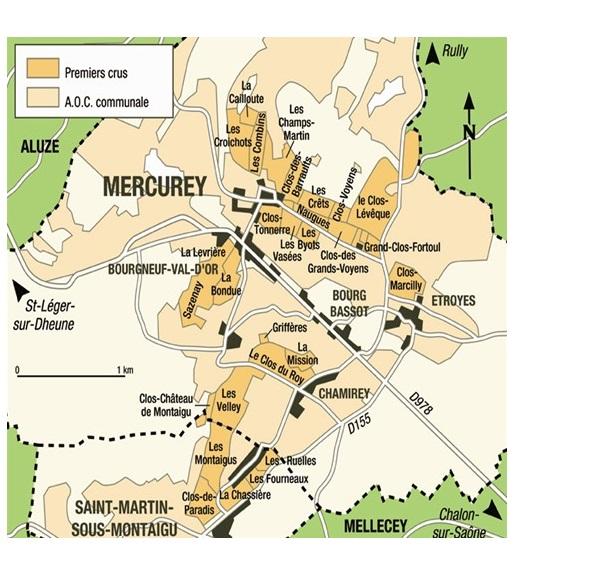 mercurey climat carte