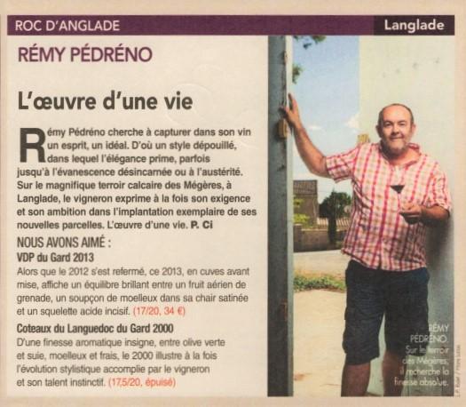 Roc d'anglade Rémy Pédréno Vin du Langudoc