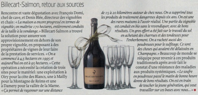 Champagne Billecart Salmon Magazine Le Point
