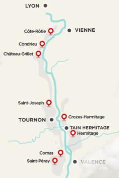 cote rotie, saint joseph, cornas, condrieu, crozes hermitage, hermitage, saint peray