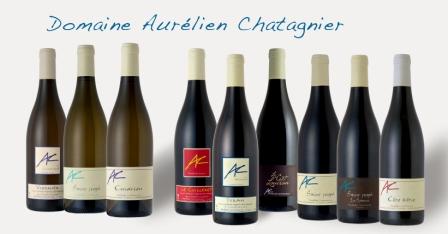 les différents vins d'Aurélien Chatagnier