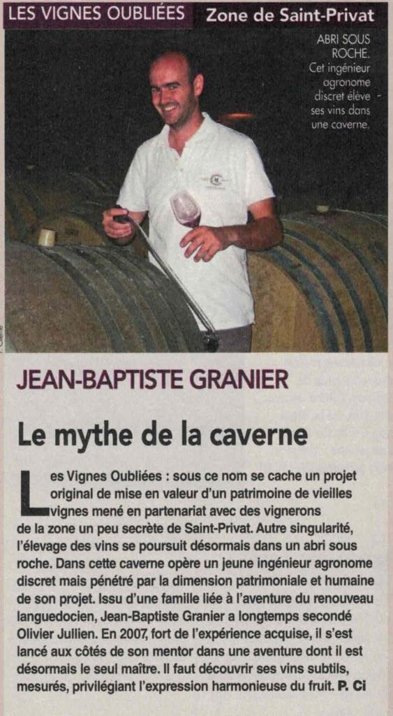 Jean-Baptiste Granier, Les Vignes Oubliées
